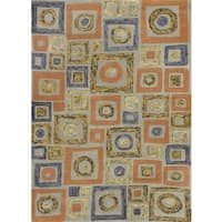 Geo Frost Cityscape Rug - 5' x 8'