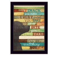 """I'll Be Watching You"" By Marla Rae, Printed Wall Art, Ready To Hang Framed Poster, Black Frame"
