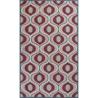 Serafina 2917 Beige/Red Tertulia (5' x 8') Rug