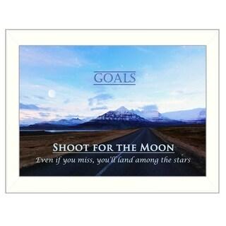 """Goals"" by Trendy Decor 4U Printed Framed Wall Art"