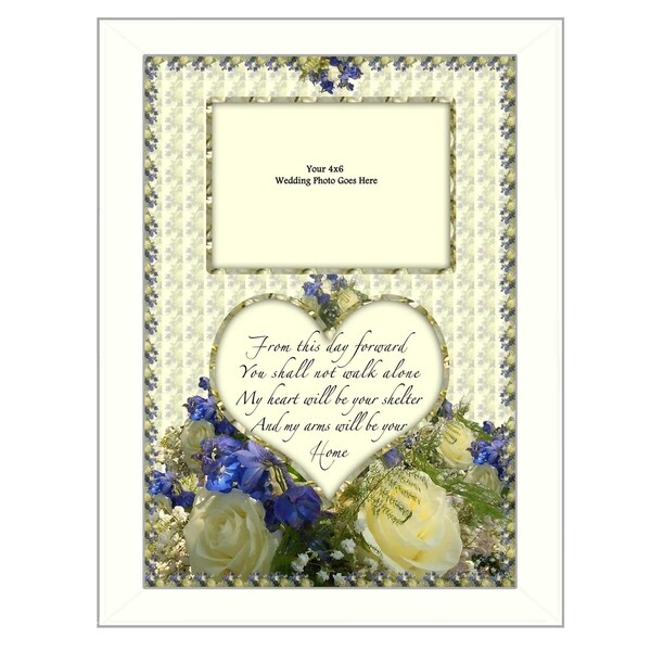 """From this Day"" By Trendy Decor4U, Printed Wall Art, Ready To Hang Framed Poster, White Frame"