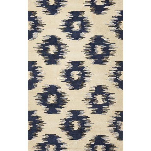 Tapestry Ivory/ Blue Simplicity Rug - 5' x 8'