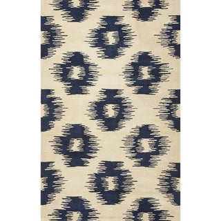 Tapestry 6801 Ivory/ Blue Simplicity Rug (5' x 8')