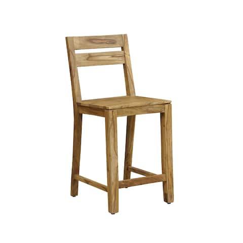 "Handmade Wanderloot Urban Sheesham Counter Height Pub Gathering Chair Stool (India) - 39""H x 17""D x 17""W"