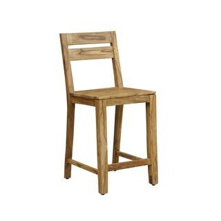 Handmade Wanderloot Urban Sheesham Counter Height Pub Gathering Chair Stool (India)