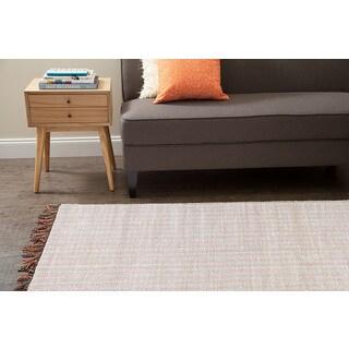 Jani Alita Upcycled White Multi Cotton Rug (5' x 7')