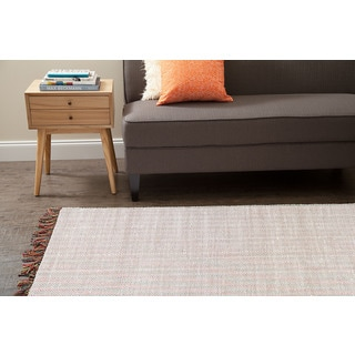Jani Alita Upcycled White Multi Cotton Rug - 4' x 6'
