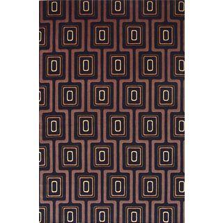Tate 8510 Black City Grid (5' x 8') Rug