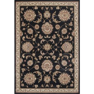 "Cambridge 7357 Black Allover Mahal (5'3"" x 7'7"") Rug"