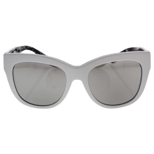 D&G Women's DG4270 30236G White Plastic Square Sunglasses. Opens flyout.