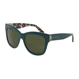 D&G Women's DG4270 302271 Green Plastic Square Sunglasses