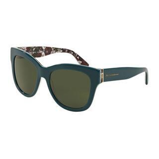 D&G Women's DG4270 302271 Green Plastic Square Sunglasses https://ak1.ostkcdn.com/images/products/11872048/P18770407.jpg?impolicy=medium