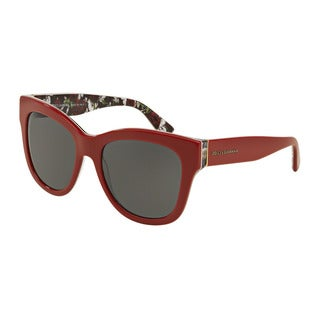 D&G Women's DG4270 302087 Red Plastic Square Sunglasses