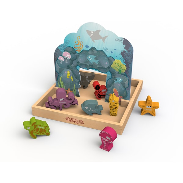 BeginAgain Multicolored Animal-themed Pop-up Playset for Kids