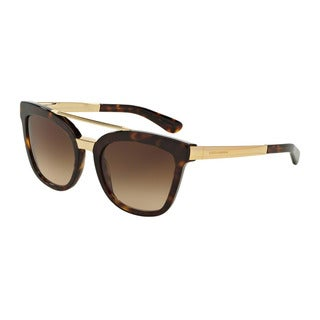 D&G Women's DG4269 502/13 Havana Plastic Square Sunglasses