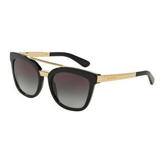 D&G Women's DG4269 501/8G Black Plastic Square Sunglasses