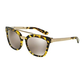 D&G Women's DG4269 29695A Yellow Plastic Square Sunglasses