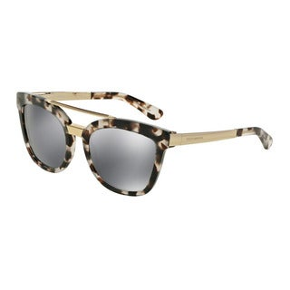 D&G Women's DG4269 28886G Grey Plastic Square Sunglasses