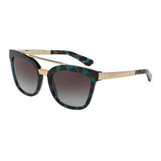 D&G Women's DG4269 28878G Green Plastic Square Sunglasses