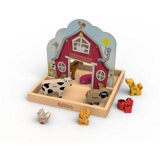 BeginAgain Toys Sounds Around The Farm Story Box Wooden Pop-up Playset