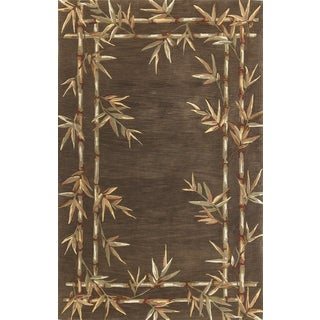 "Sparta 3164 Mocha Bamboo Double Border (5'3"" x 8'3"") Rug"