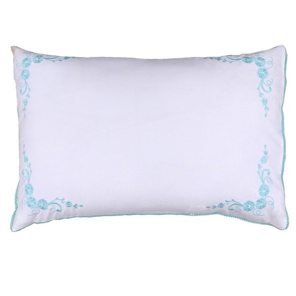 100-percent Cotton Floral Embroidered Decorative Pillow Shams (Pack of 2)