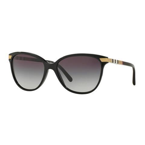 Burberry Women's BE4216 30018G Black Plastic Cat Eye Sunglasses