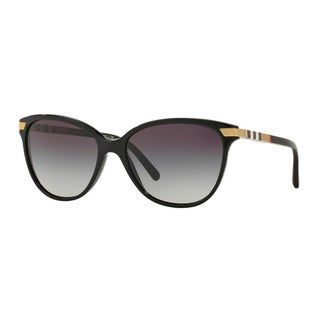 Burberry Women's BE4216 30018G Black Plastic Cat Eye Sunglasses