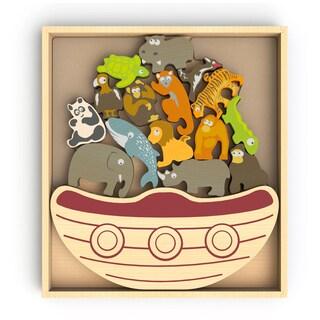 BeginAgain Toys Balance Boat Endangered Animals Game and Playset