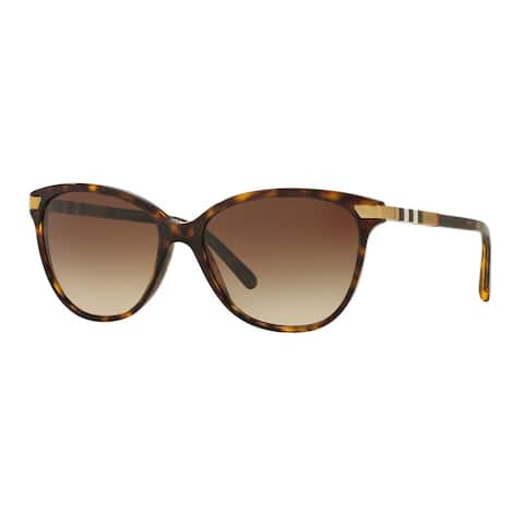 Burberry Women's BE4216 300213 Havana Plastic Cat Eye Sunglasses