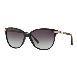 Burberry Women's BE4216F 30018G Black Plastic Cat Eye Sunglasses