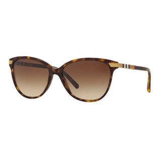 Burberry Women's BE4216F 300213 Havana Plastic Cat Eye Sunglasses