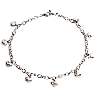 Magnetic Therapy 12.5-inch Adjustable Ankle Bracelet with Hearts
