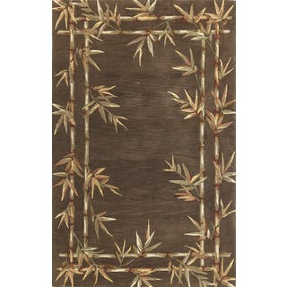 """Sparta 3164 Mocha Viscose from Bamboo Double Border (3'6"""" x 5'6"""") Rug