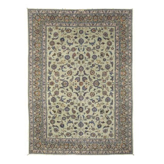 EORC Hand Knotted Wool Green Alaghemand-Kashan Rug (9'6 x 13'7)