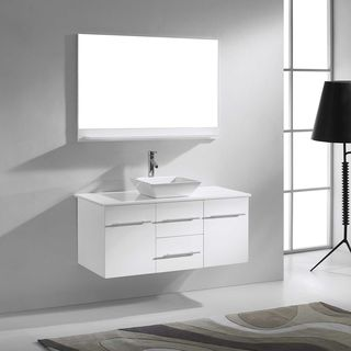 Virtu USA Marsala 48-inch Single Stone Top Bathroom Vanity Set