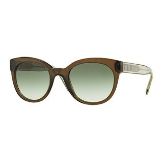 Burberry Women's BE4210 30108E Green Plastic Phantos Sunglasses