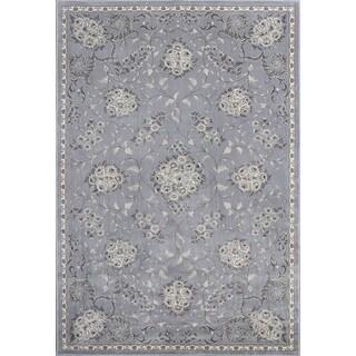 Montecarlo IV 5190 Silver Bouquets Rug (7'10 x 11'2)