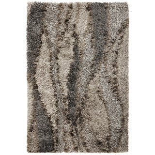 Optic 1102 Silver Grain Rug (7'6 x 9'6)