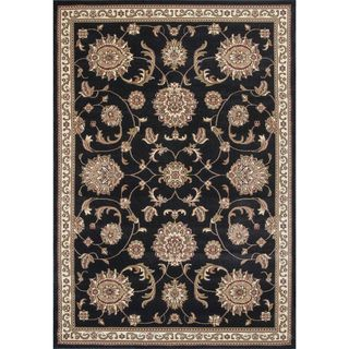 "Cambridge 7357 Black Alllover Mahal 7'7"" Octagon Rug"