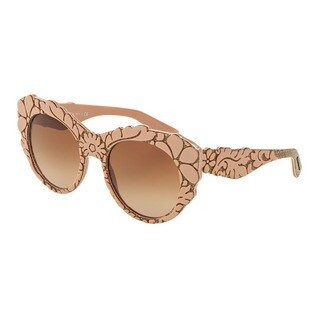 D&G Women's DG4267 300113 Pink Plastic Round Sunglasses