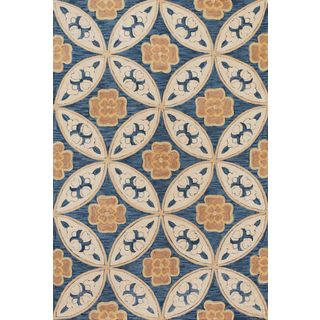 """Milan 2137 Blue Mosaic (7'9"""" x 9'9"""") Rug"""