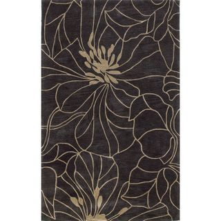 Bali 2816 Charcoal/Taupe Floral Chic (8' X 10') Rug