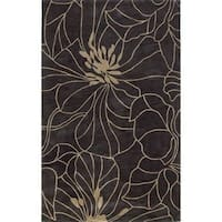Bali Charcoal/Taupe Floral Chic Rug - 8' x 10'
