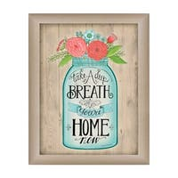 """""""You're Home Now"""" By Deb Strain, Printed Wall Art, Ready To Hang Framed Poster, Beige Frame"""