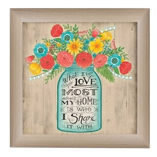 """""""What I Love Most"""" by Debbie DeWitt Printed Framed Wall Art"""