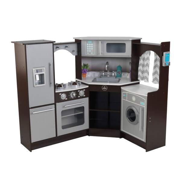 Kidkraft Ultimate Corner Play Kitchen With Lights And