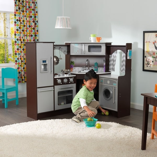 Play Kitchens On Sale: Shop KidKraft Ultimate Corner Play Kitchen With Lights And