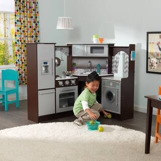 kidkraft ultimate corner play kitchen with lights and sounds - Toy Kitchen