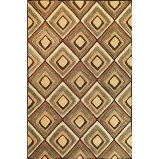 Milan 2102 Beige Diamonds (9' x 13') Rug